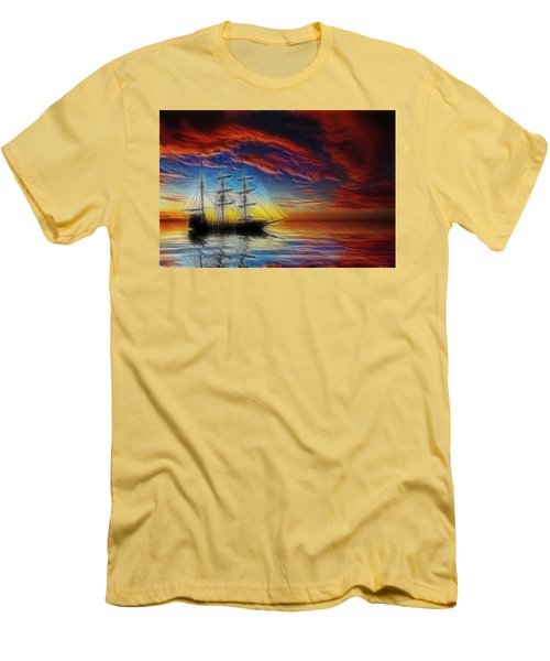 Sailboat Fractal Men's T-Shirt (Athletic Fit)