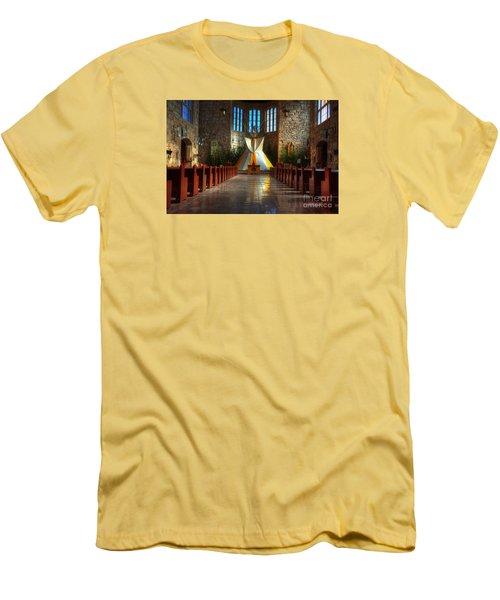 Saint Josephs Apache Mission Men's T-Shirt (Slim Fit) by Bob Christopher