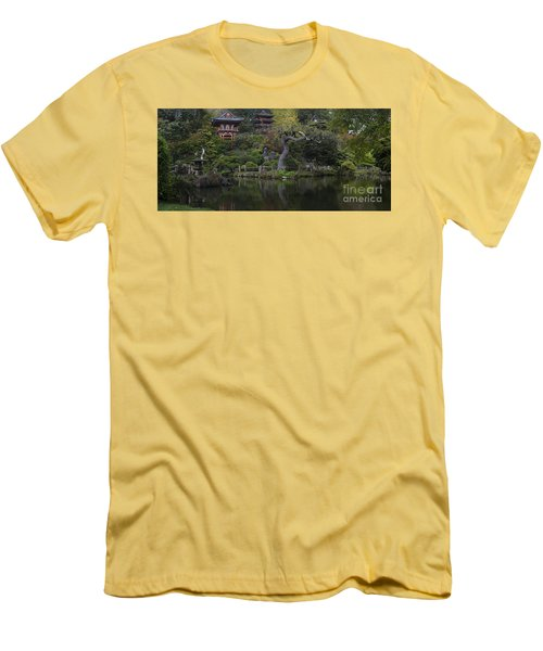 San Francisco Japanese Garden Men's T-Shirt (Slim Fit) by Mike Reid