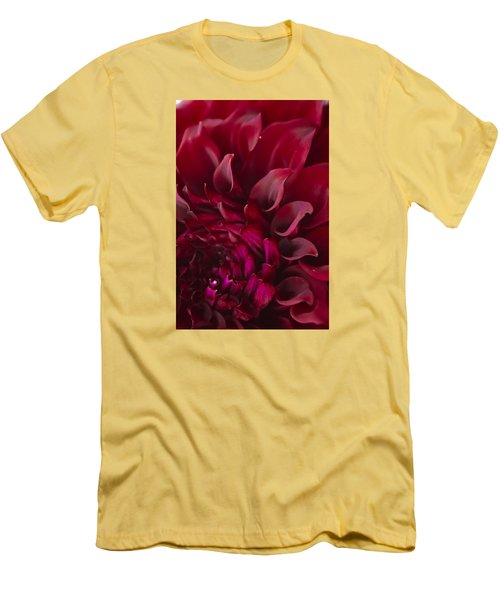Men's T-Shirt (Slim Fit) featuring the photograph Scarlet Spiral by Joel Loftus