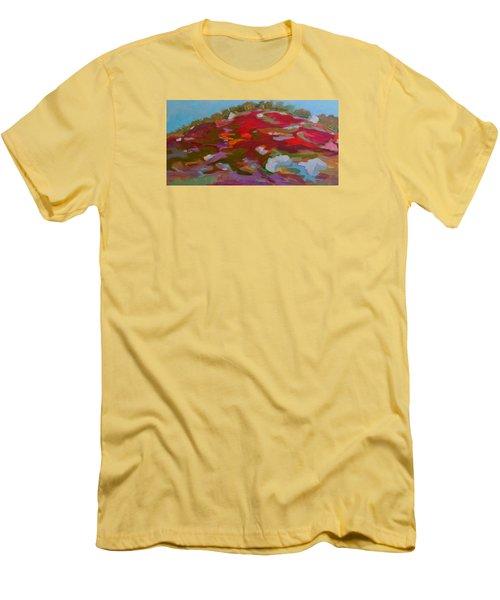 Schoodic Trail Blueberry Hill Men's T-Shirt (Slim Fit) by Francine Frank
