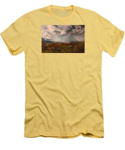 Scottish Loch Men's T-Shirt (Slim Fit) by Jean Walker