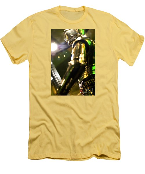 Screen Worn C3p0 Costume Men's T-Shirt (Slim Fit) by Micah May