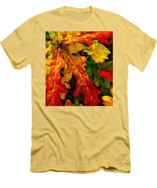 Men's T-Shirt (Slim Fit) featuring the digital art Season's End by Chuck Mountain