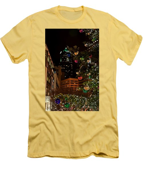 Seattle Downtown Christmas Time Art Prints Men's T-Shirt (Athletic Fit)