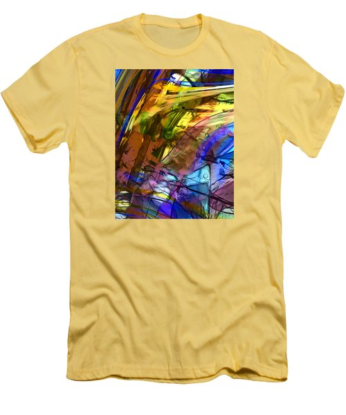 Men's T-Shirt (Slim Fit) featuring the painting Secret Animal by Richard Thomas