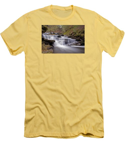Seneca Falls In Spring Men's T-Shirt (Athletic Fit)