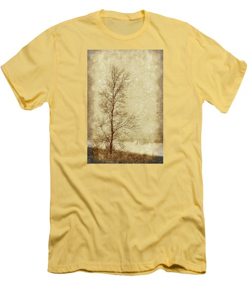 Sentinel Tree In Winter Men's T-Shirt (Slim Fit) by Nikolyn McDonald