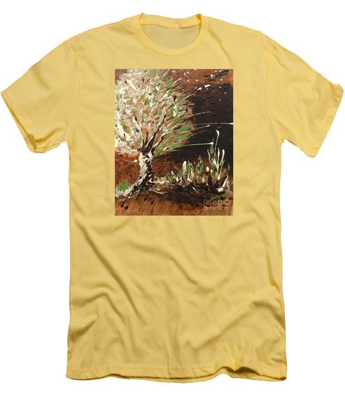 Men's T-Shirt (Slim Fit) featuring the painting Shadows by Holly Carmichael