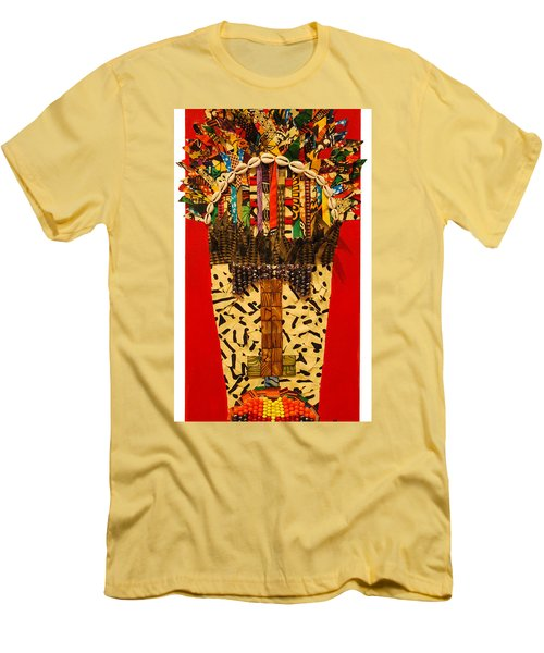 Men's T-Shirt (Athletic Fit) featuring the tapestry - textile Shaka Zulu by Apanaki Temitayo M