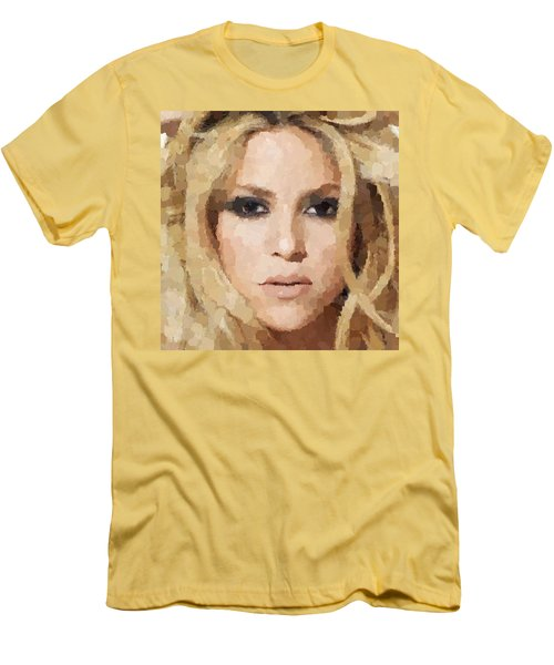 Shakira Portrait Men's T-Shirt (Athletic Fit)