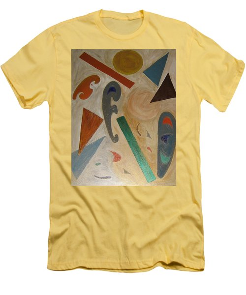 Shapes Men's T-Shirt (Slim Fit) by Barbara Yearty
