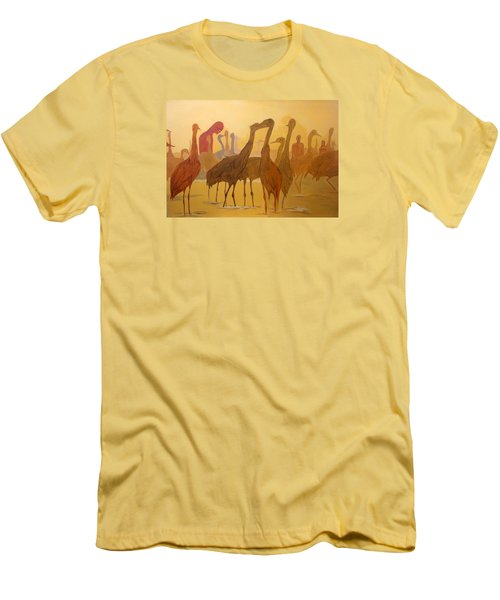 Men's T-Shirt (Slim Fit) featuring the painting Shapes Just Shapes Formas Nada Mas by Lazaro Hurtado