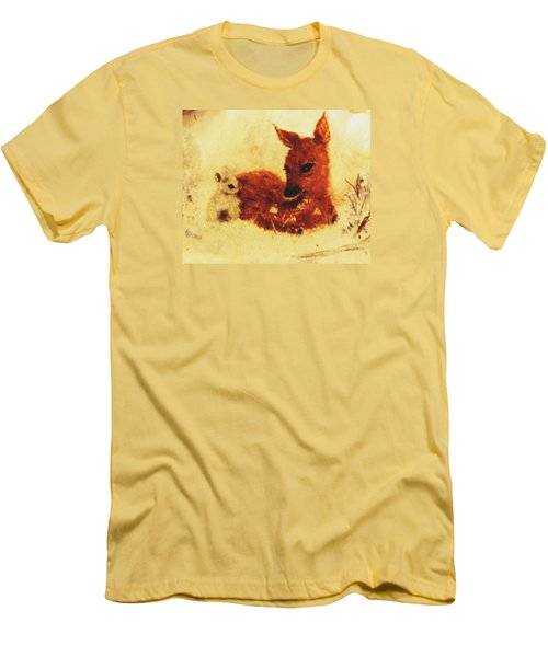 Men's T-Shirt (Slim Fit) featuring the painting Sharing Secrets by Hazel Holland