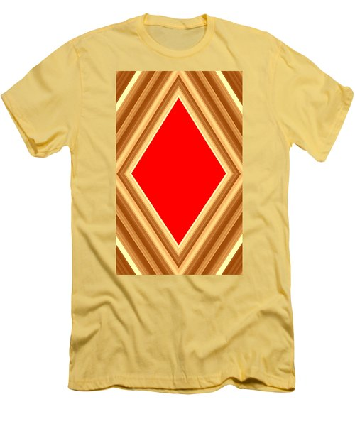 Men's T-Shirt (Slim Fit) featuring the digital art She Said Love Was Red  by Cletis Stump
