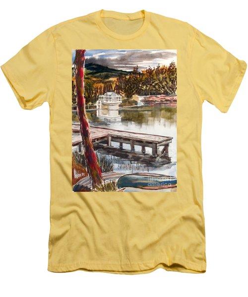 Shepherd Mountain Lake In Twilight Men's T-Shirt (Slim Fit) by Kip DeVore