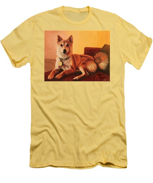 Shiba Inu Portrait Men's T-Shirt (Athletic Fit)