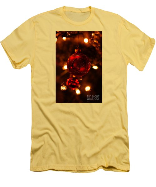 Men's T-Shirt (Slim Fit) featuring the photograph Shimmering Reflection by Linda Shafer