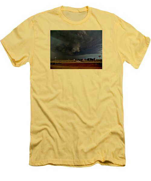 Men's T-Shirt (Athletic Fit) featuring the photograph Signs Of A Supercell by Ed Sweeney