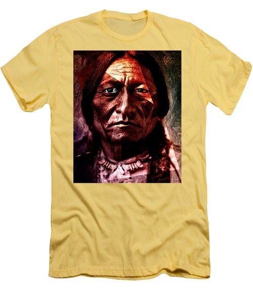 Sitting Bull - Warrior - Medicine Man Men's T-Shirt (Athletic Fit)