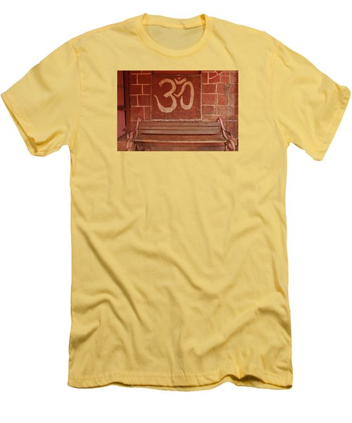 Men's T-Shirt (Slim Fit) featuring the photograph Skc 0316 Welcome The Gods by Sunil Kapadia