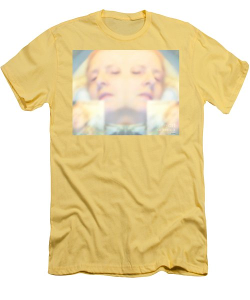 Sleeping Woman Drifting In Dreams Men's T-Shirt (Slim Fit) by Marian Cates