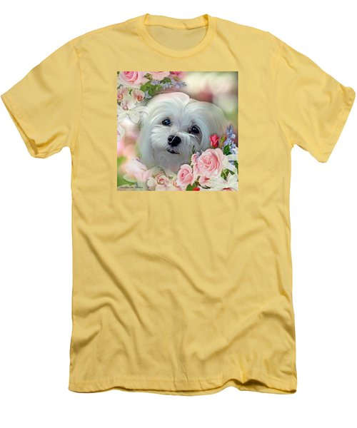 Snowdrop The Maltese Men's T-Shirt (Athletic Fit)