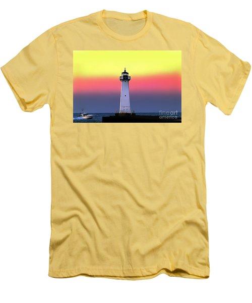 Sodus Outer Lighthouse Men's T-Shirt (Athletic Fit)