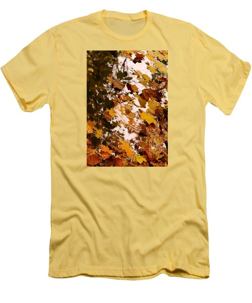 Men's T-Shirt (Slim Fit) featuring the photograph Soft Landing by Photographic Arts And Design Studio
