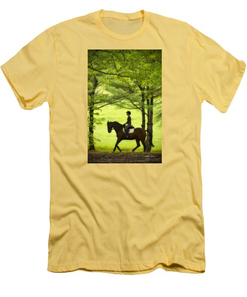 Men's T-Shirt (Slim Fit) featuring the photograph Solitude by Joan Davis