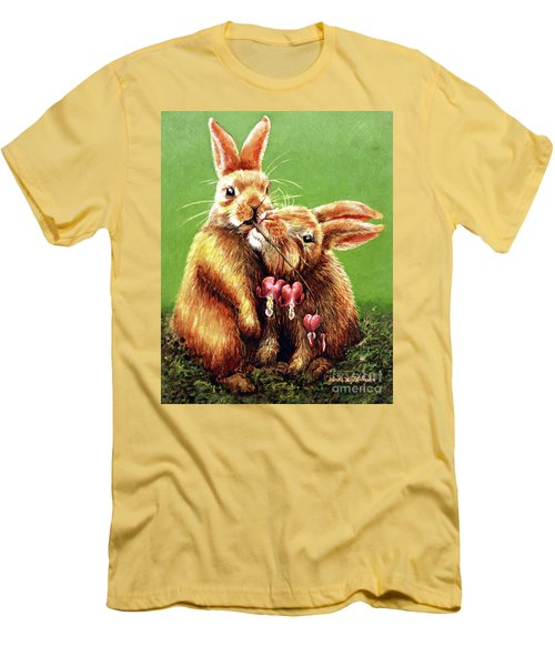Some Bunny Loves You Men's T-Shirt (Athletic Fit)