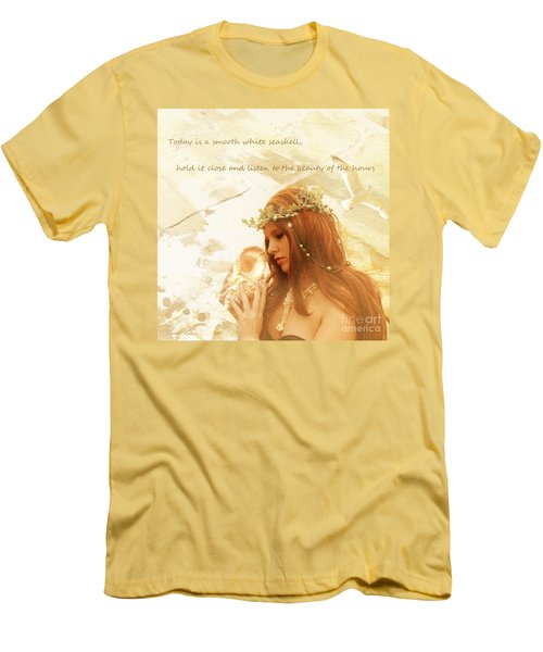 Sounds Of The Sea Men's T-Shirt (Slim Fit) by Linda Lees