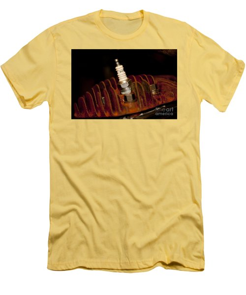 Sparkplug And Rusty Cooling Fins Men's T-Shirt (Slim Fit) by Wilma  Birdwell