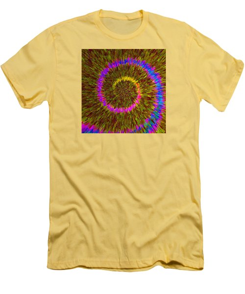 Spiral Rainbow IIi C2014 Men's T-Shirt (Slim Fit) by Paul Ashby