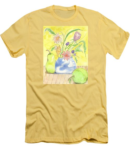 Spring Bouquet Men's T-Shirt (Slim Fit)