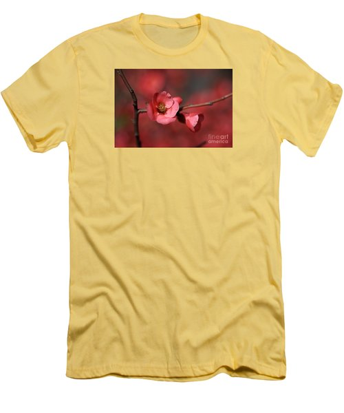 Spring Richness - Flowering Quince Men's T-Shirt (Slim Fit) by Joy Watson