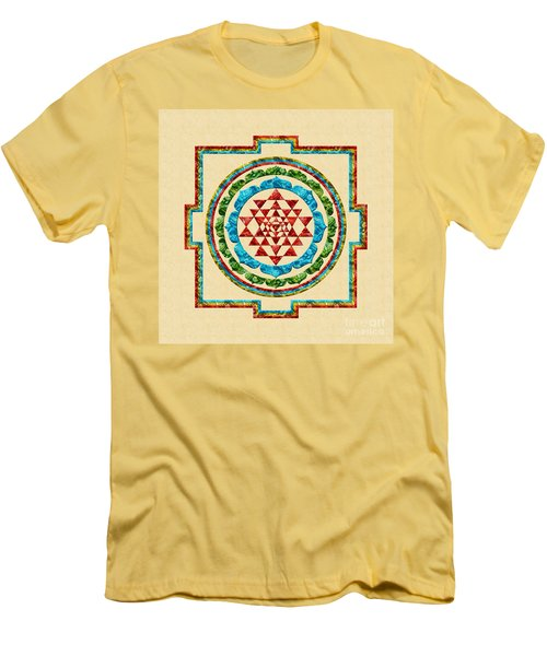 Sri Yantra Men's T-Shirt (Slim Fit) by Olga Hamilton