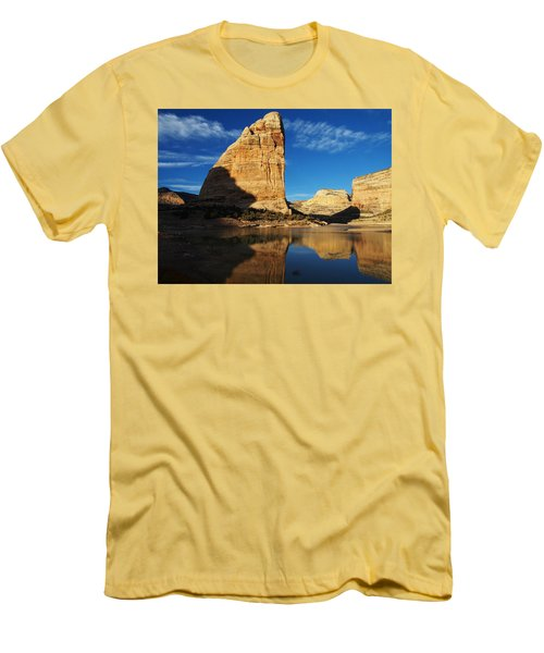 Steamboat Rock In Dinosaur National Monument Men's T-Shirt (Slim Fit)