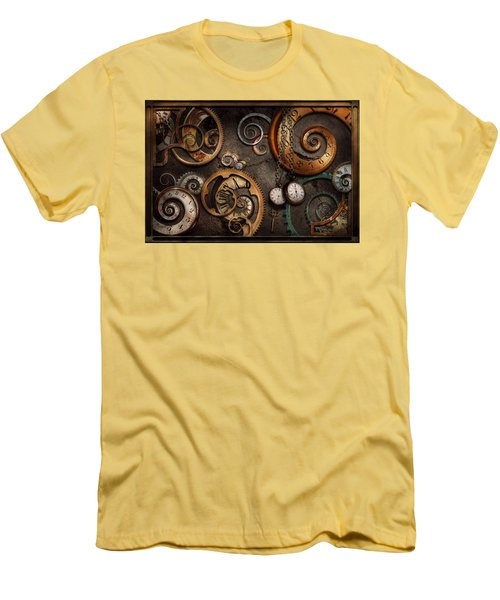 Steampunk - Abstract - Time Is Complicated Men's T-Shirt (Slim Fit) by Mike Savad