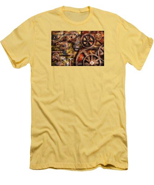 Steampunk - Gears - Inner Workings Men's T-Shirt (Slim Fit) by Mike Savad