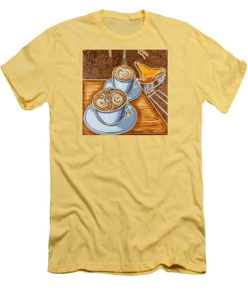 Still Life With Bicycle Men's T-Shirt (Slim Fit) by Mark Jones