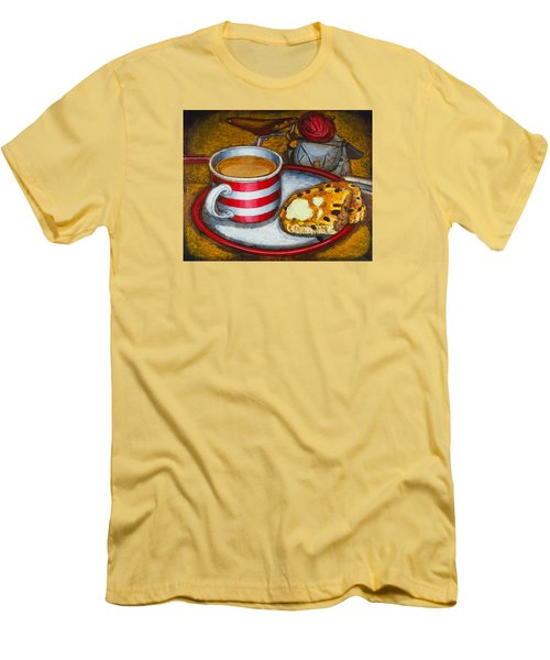 Men's T-Shirt (Slim Fit) featuring the painting Still Life With Red Touring Bike by Mark Howard Jones
