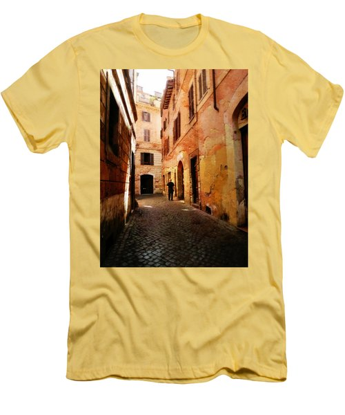 Men's T-Shirt (Slim Fit) featuring the photograph Strade Di Ciottoli by Micki Findlay