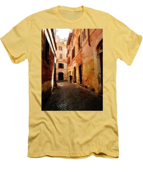 Strade Di Ciottoli Men's T-Shirt (Slim Fit) by Micki Findlay