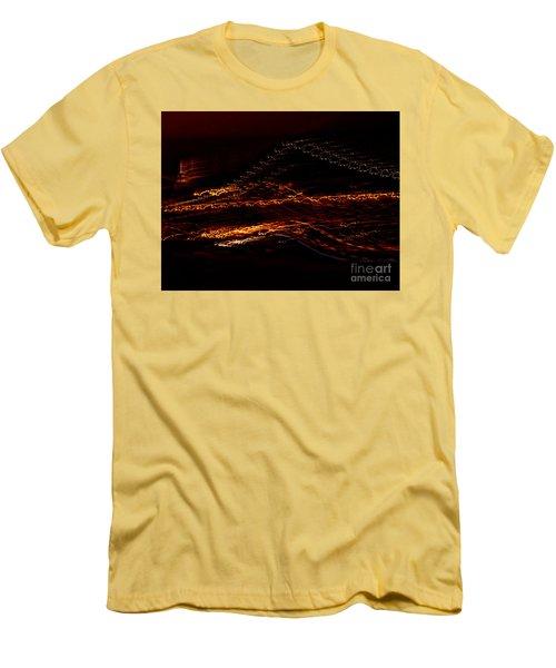 Streaks Across The Bridge Men's T-Shirt (Slim Fit) by Paulo Guimaraes