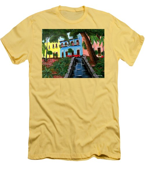 Street Hill In Old San Juan Men's T-Shirt (Athletic Fit)