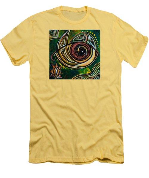 Men's T-Shirt (Slim Fit) featuring the painting Strength Spirit Eye by Deborha Kerr