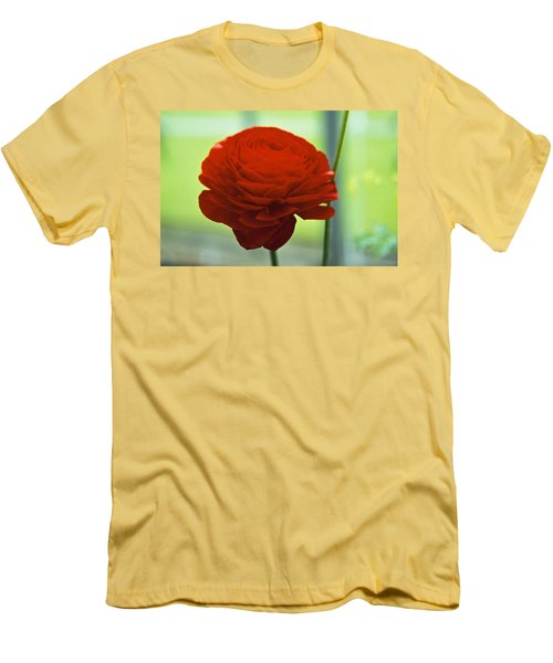 Men's T-Shirt (Slim Fit) featuring the photograph Striking Red by Lana Enderle