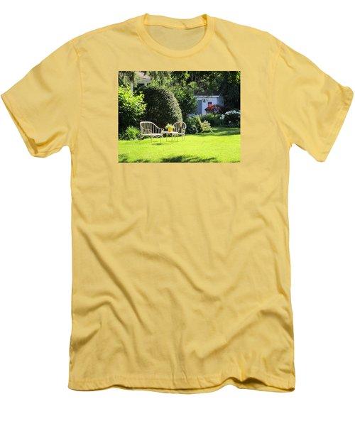 Men's T-Shirt (Slim Fit) featuring the photograph Summer Garden by Jieming Wang