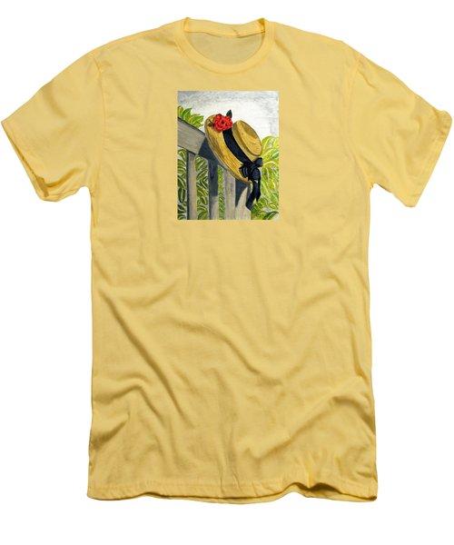 Summer Hat Men's T-Shirt (Athletic Fit)